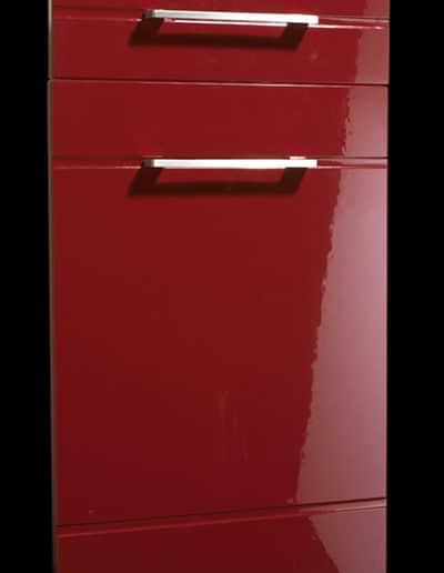 High Gloss Red Modena Door